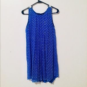 Anthropologie B blue dress with white accents